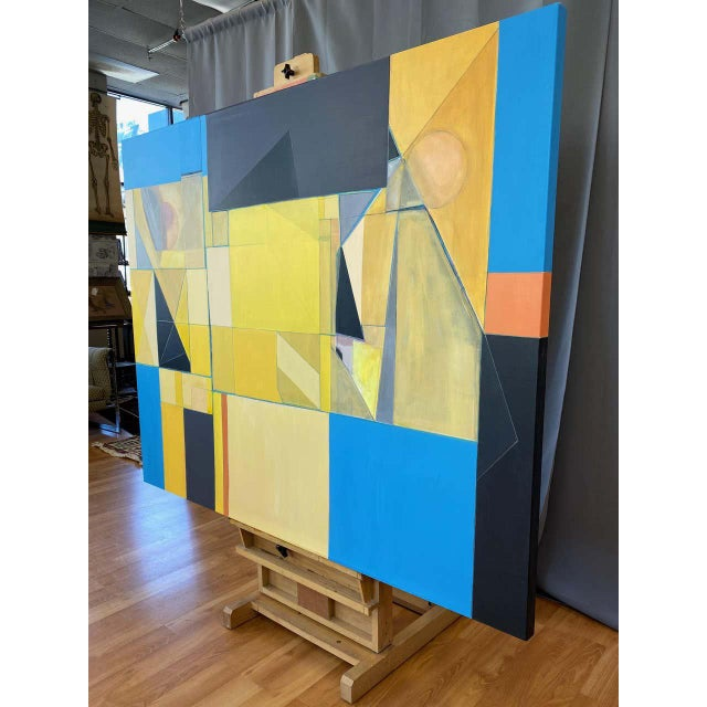 """Robert English """"Etheric Double"""", Large Abstract Cubist Painting, 1994-1995 For Sale - Image 4 of 13"""