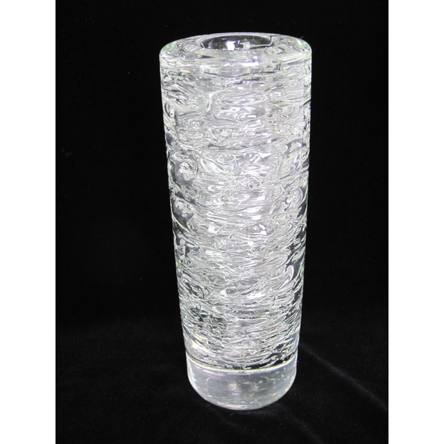 Late 20th Century Vintage Mid-Century Modern Frantisek Vizner Studio Bohemian Czech Crystal Vase For Sale - Image 5 of 5