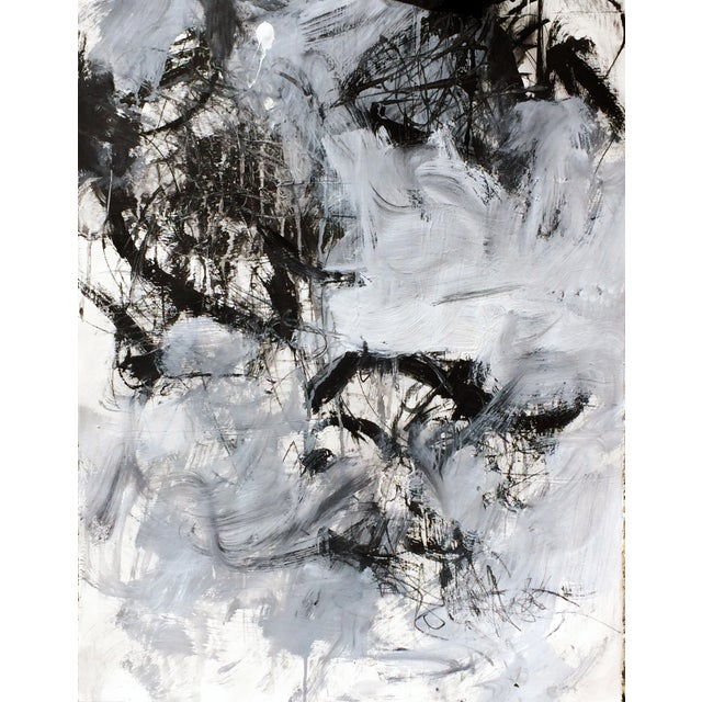Abstract Painting on Paper - Untitled - Image 1 of 2