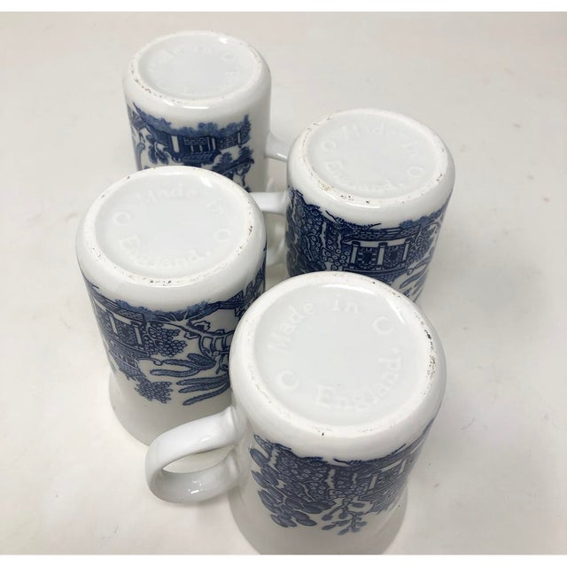 Vintage Blue Willow Coffee Mugs - Made in England - Set of 4 For Sale In Atlanta - Image 6 of 8