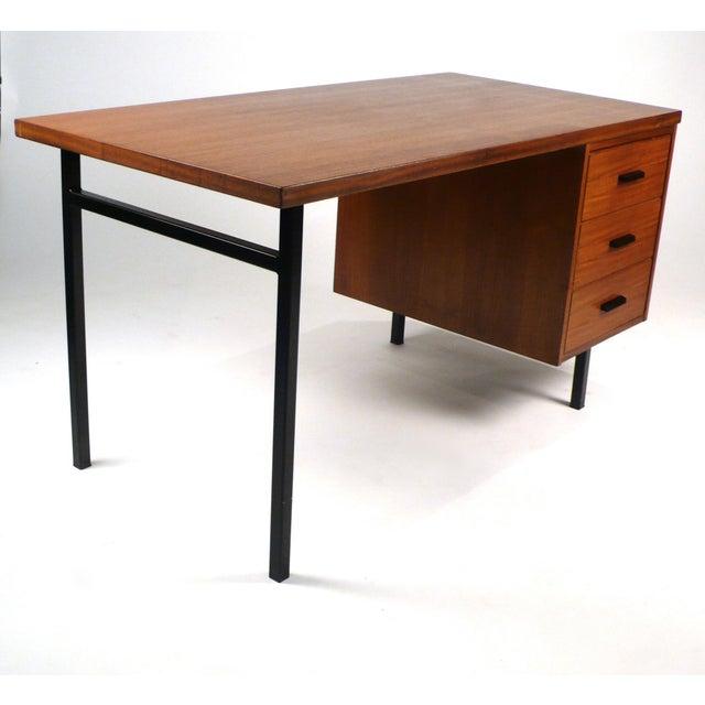 1950s Three Drawer Danish Desk For Sale - Image 5 of 10