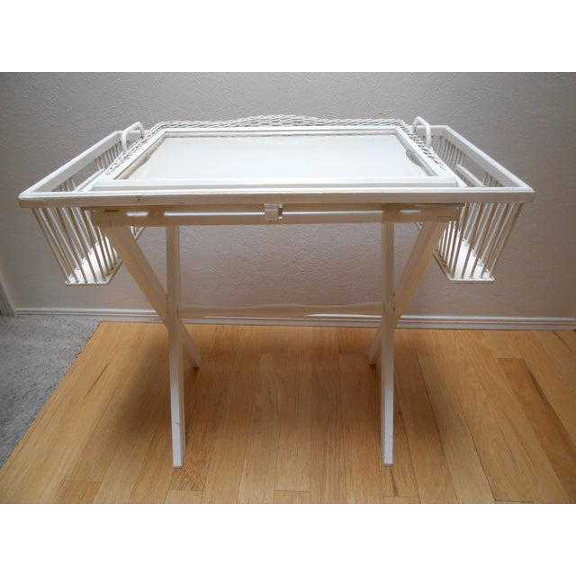 Lap Tray Side Table Antique White - Image 9 of 10