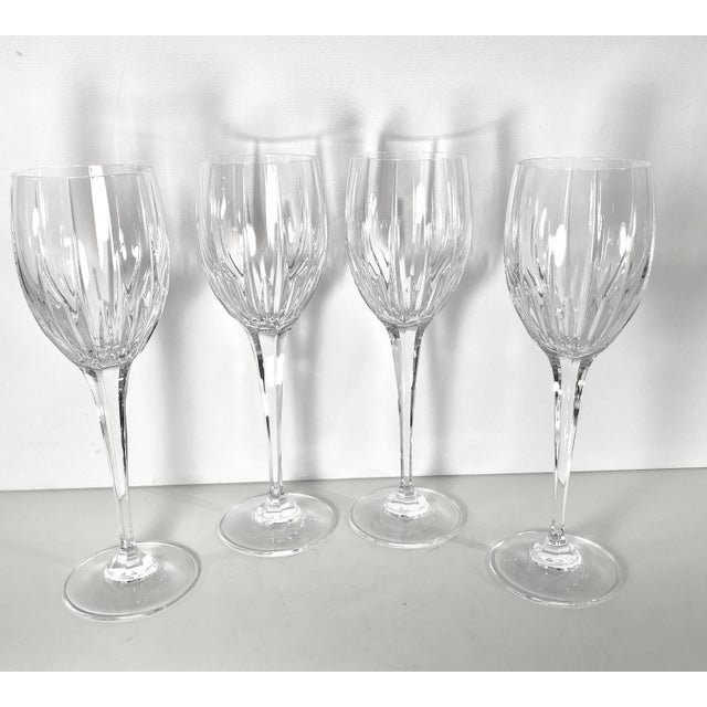 Mikasa Arctic Lights Imperial Cut Crystal Goblets - Set of 4 For Sale - Image 11 of 11