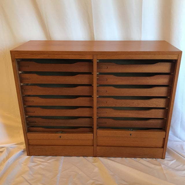 Double Tabour Door Danish Teak Buffet For Sale - Image 4 of 12