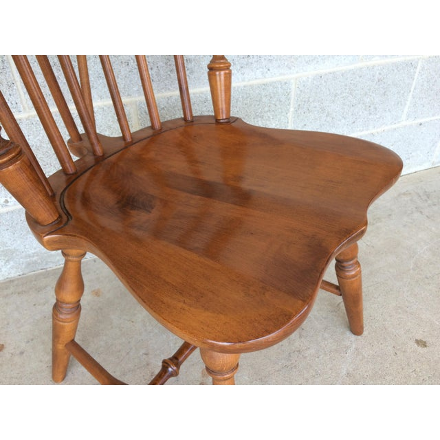 Maple Tell City Maple Windsor Brace Back Dining Chairs - Set of 6 For Sale - Image 7 of 11