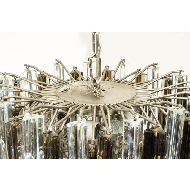 Mid-Century Modern Murano Glass Chandelier Smokey Topaz by Venini for Camer Glass For Sale - Image 3 of 10