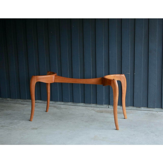 Brown Danish Modern Anthropomorphic Carved Hardwood Dining Table For Sale - Image 8 of 13