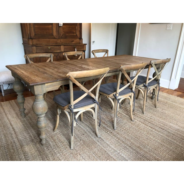 Restoration Hardware Baluster Rectangular Dining Table & Chairs- 7 Pieces