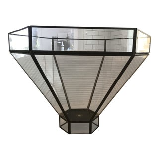 Mid Century Glass Decorative Planter For Sale