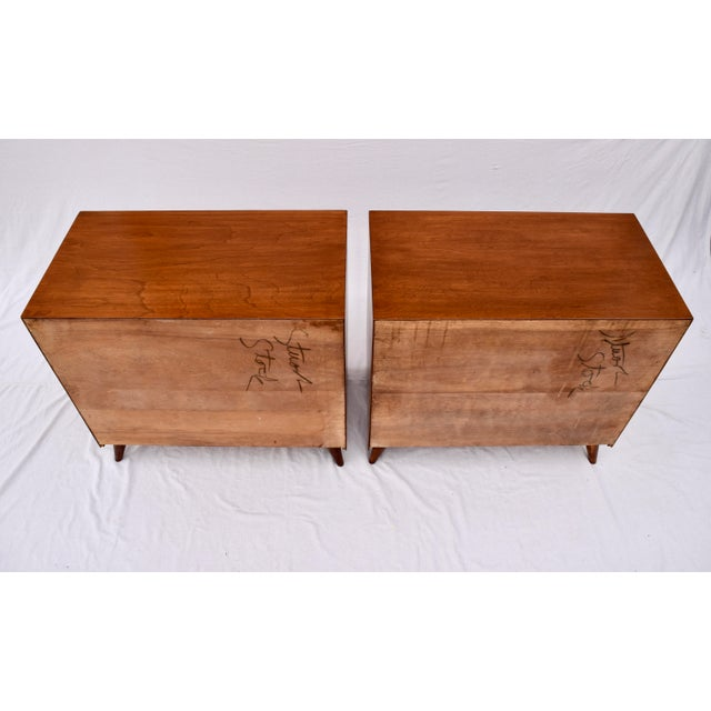 1950's John Stuart Bachelor Chests, Pair For Sale - Image 9 of 12