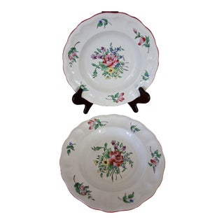 Guerin Luneville French Faience Old Strasbourg Plates - A Pair