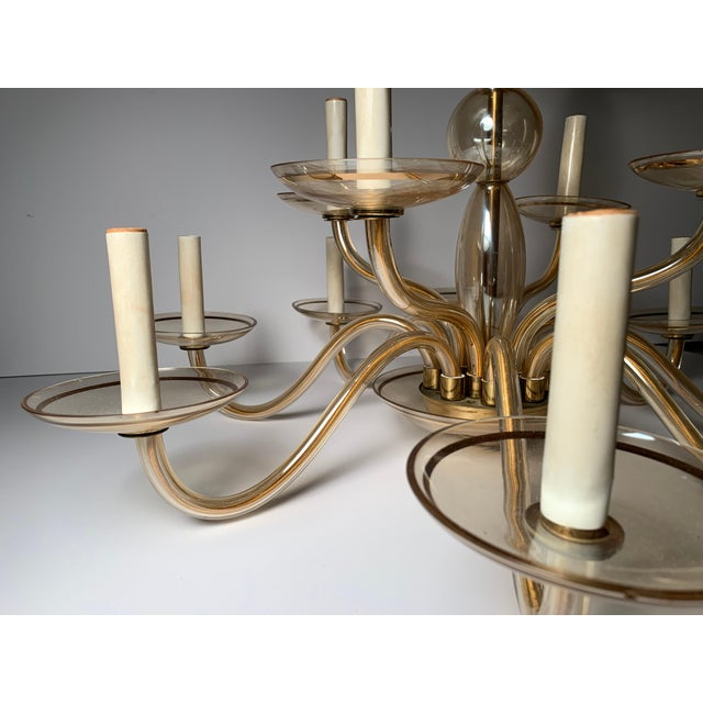 Vintage Bohemian Crystal Murano Chandelier For Sale - Image 4 of 10