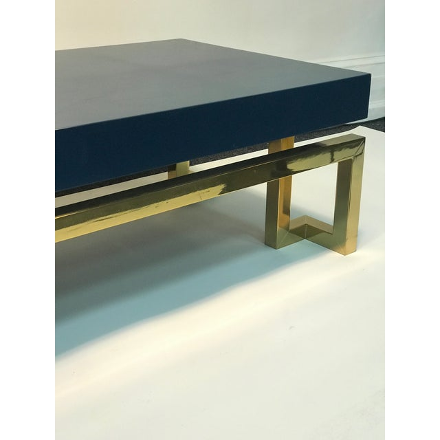 Modern Exceptional Italian Coffee Table with Greek Key Design For Sale - Image 3 of 10