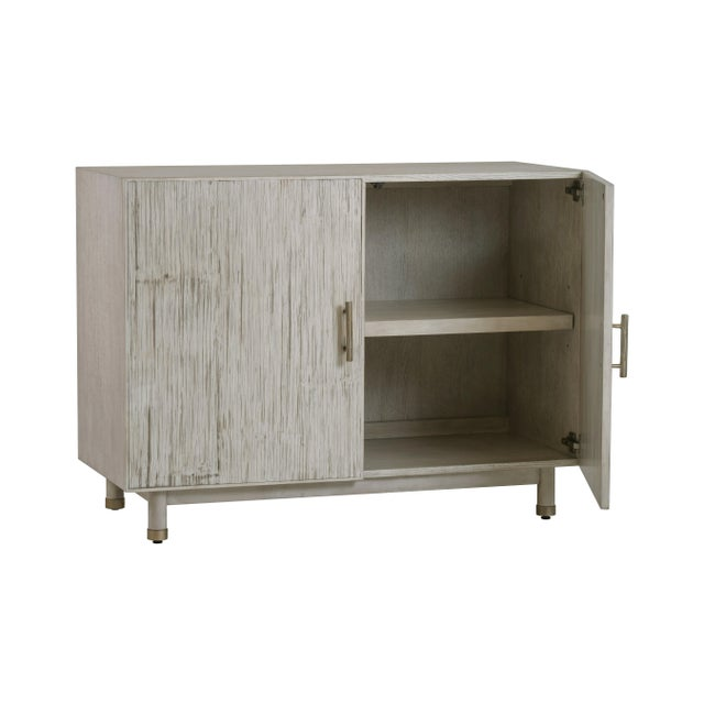 Contemporary Century Furniture Biscayne 2 Door Chest, Peninsula Finish For Sale - Image 3 of 4