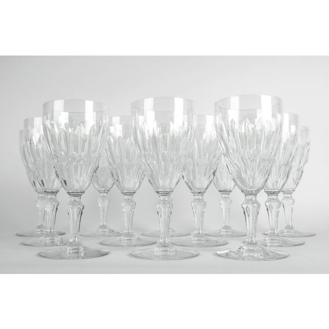 Mid-Century Modern Mid 20th Century Baccarat Glassware - Set of 12 For Sale - Image 3 of 5