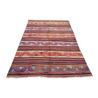"Vintage Turkish Kilim Rug -- 5'3"" x 8'9"" For Sale"