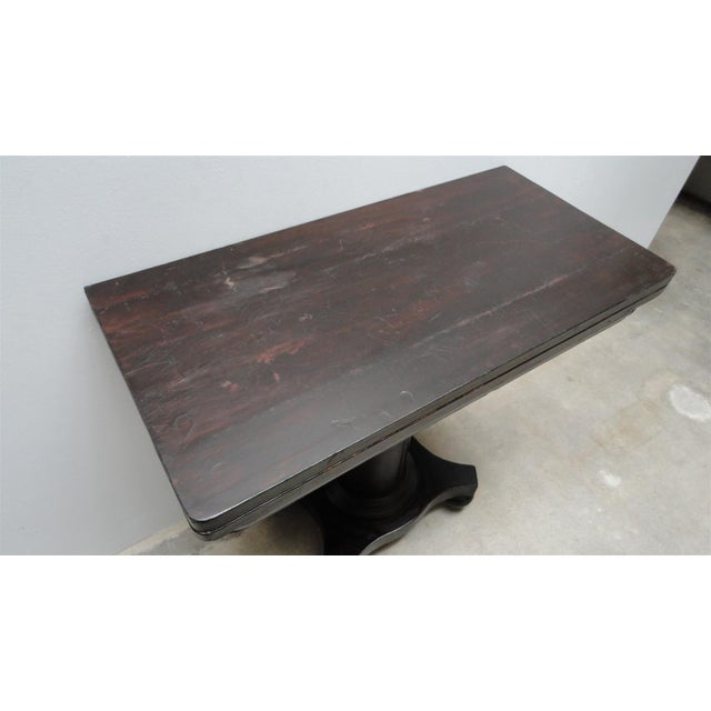 Antique Ebonized Empire Game Table and Console For Sale - Image 11 of 11