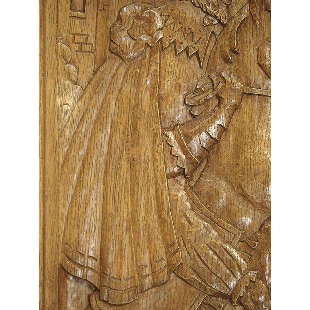 Mid 20th Century Set of Three Bas Relief Carved Belgian Panels, Circa 1930 For Sale - Image 5 of 13
