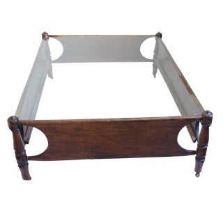 Primitive Child's Bed Coffee Table For Sale