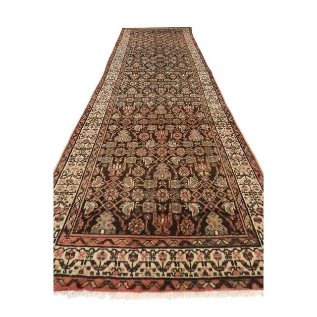 Islamic Antique Persian Malayer Carpet Runner with Traditional Modern Style For Sale - Image 3 of 9