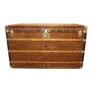 1900s Extra Large Louis Vuitton Trunk, Malle Vuitton Courrier For Sale