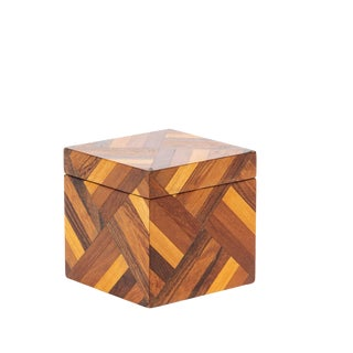 Wooden Box With Geometric Pattern by Don Shoemaker for Senal For Sale