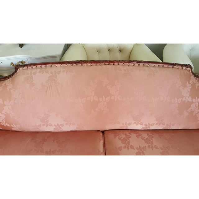 Antique Victorian Pink Loveseat Sofa - Image 6 of 6