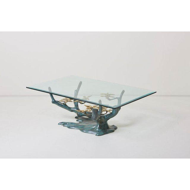Brass Bonsai Tree Coffee or Side Table in the Manner of Willy Daro For Sale - Image 10 of 13