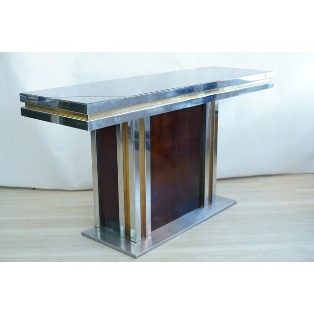 Modern Romeo Rega Glass Top Console For Sale - Image 3 of 7