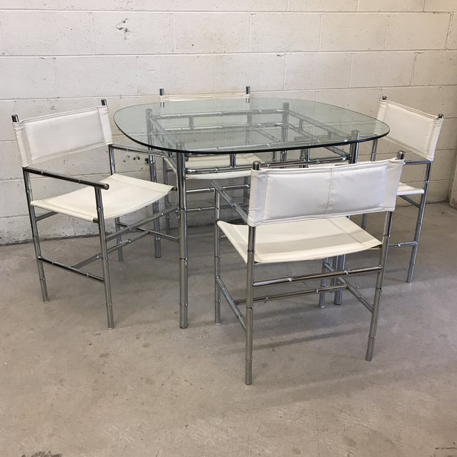 Classic, timeless set. Great size for apartment or small dining area. Chrome frame with vinyl seats that are easily...
