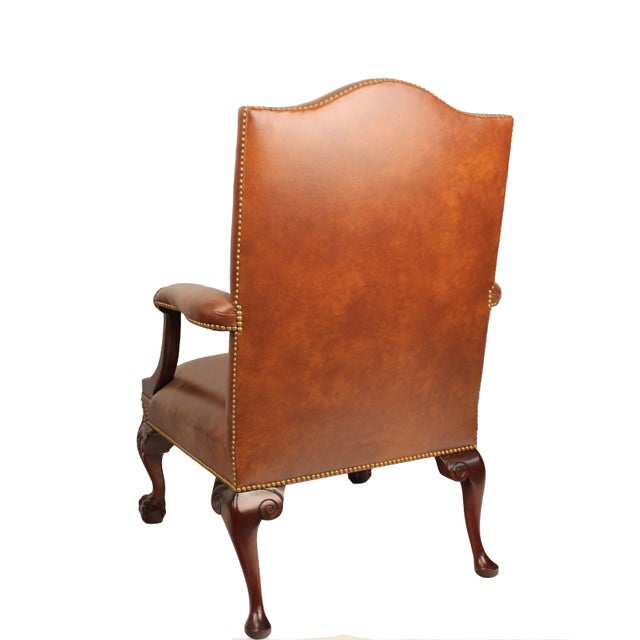 Samuel Leather Library Arm Chair - Image 3 of 4
