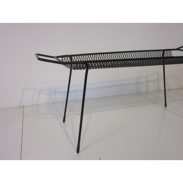 Mid 20th Century Maurice Ducin Iron Magazine Rack For Sale - Image 5 of 8