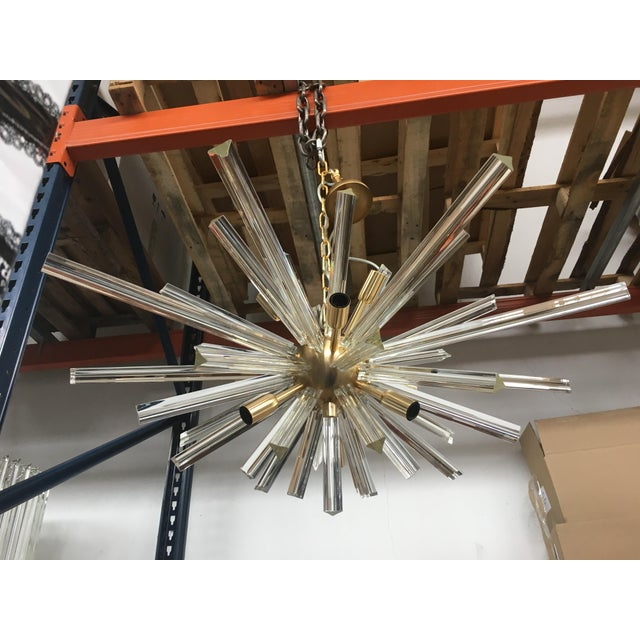 Early 21st Century Murano Glass Triedo Sputnik Gold Brushled Chandelier For Sale - Image 5 of 12
