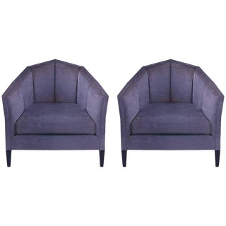 Art Deco Style Benjamin Johnston Lounge Chairs - a Pair For Sale