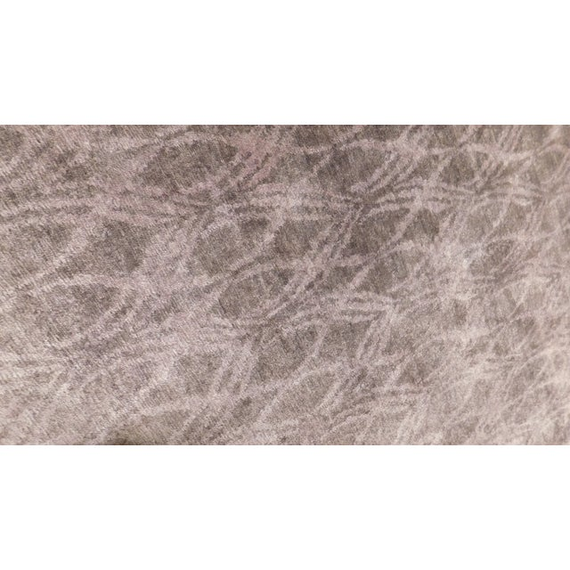 """2010s Modern Hand-Knotted Bamboo Silk Rug - 9'3"""" X 11'6"""" For Sale - Image 5 of 5"""