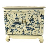Image of Chinoiserie Blue Stencil Painted Chest