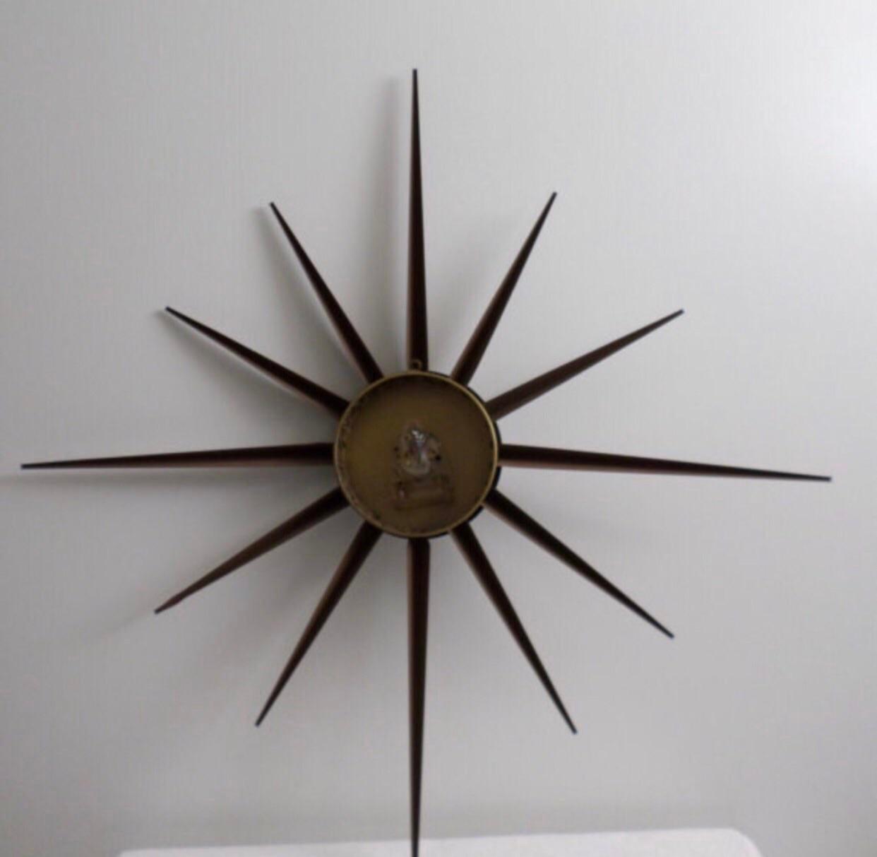 Mid-Century Welby Starburst Wall Clock