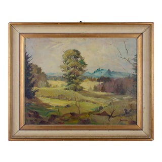 Landscape Oil on Board Painting by Giovanni Costa