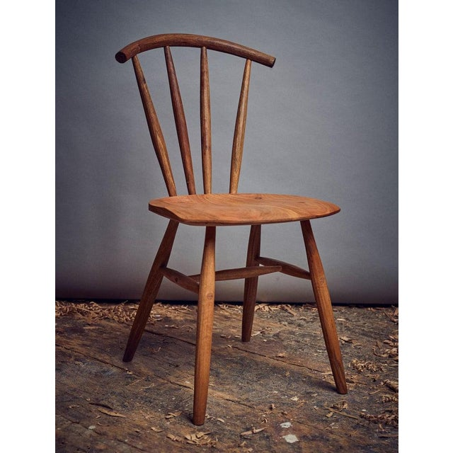 Mid-Century Modern Handcrafted Studio Windsor Chair by Fabian Fischer, Germany, 2019 For Sale - Image 3 of 6