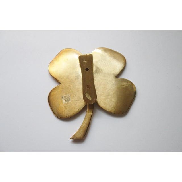 Four Leaf Clover Brass Door Knocker - Image 3 of 4