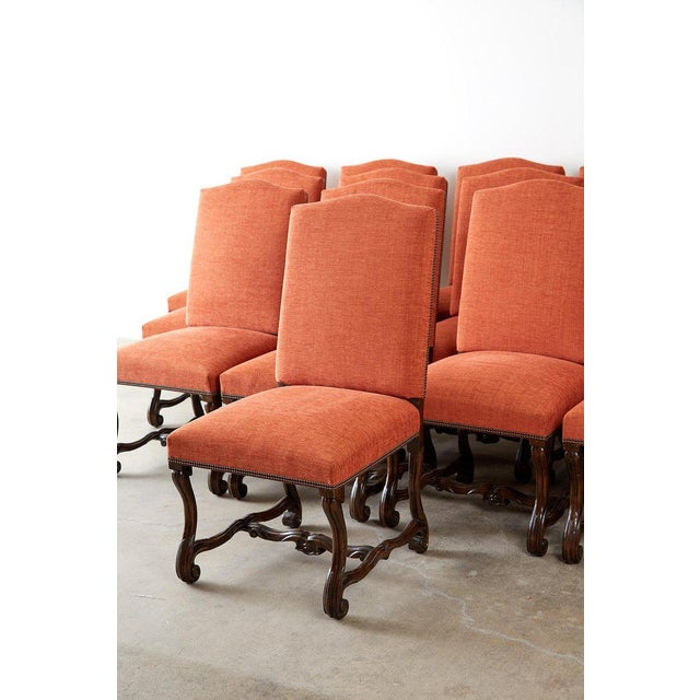 Late 20th Century Set of Sixteen French Os De Mouton Style Dining Chairs For Sale - Image 5 of 13