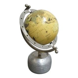 Modern Vintage Petite World Globe For Sale