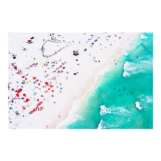 Cheryl Maeder, Beach Swimming, Archival Photographic Watercolor Print For Sale