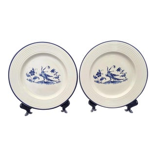 1960s Varages French Blue Bird Plates For Sale