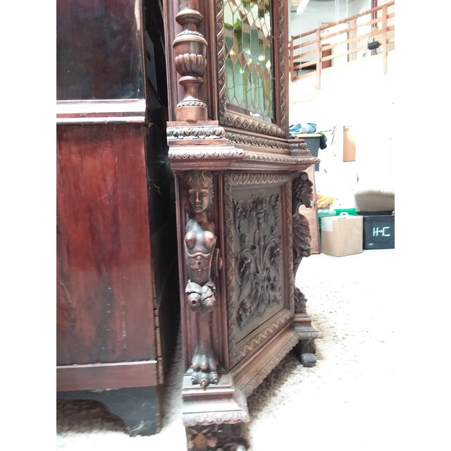 Ornate Renaissance Revival French Bookcase For Sale In San Antonio - Image 6 of 12