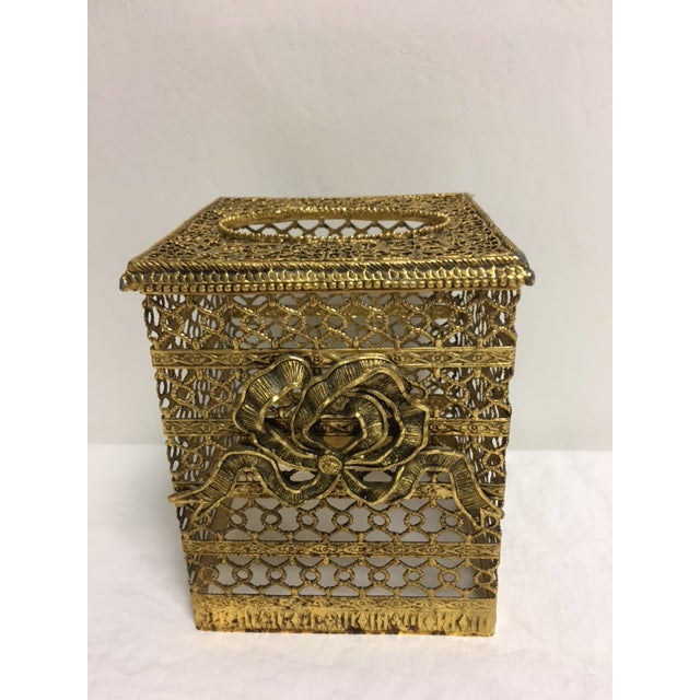 Hollywood Regency Goldtone Kleenex Box - Image 7 of 7