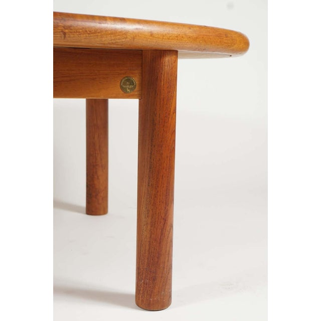 Teak Tue Poulsen Ceramic Art Tile Coffee Table by Haslev 1960s Made in Denmark For Sale - Image 9 of 12