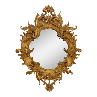 Antique Italian Gilt Carved Mirror 19th Century For Sale