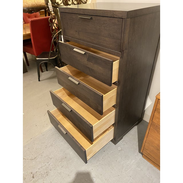 Baronet Silver 5 Drawer Highboy For Sale - Image 4 of 10