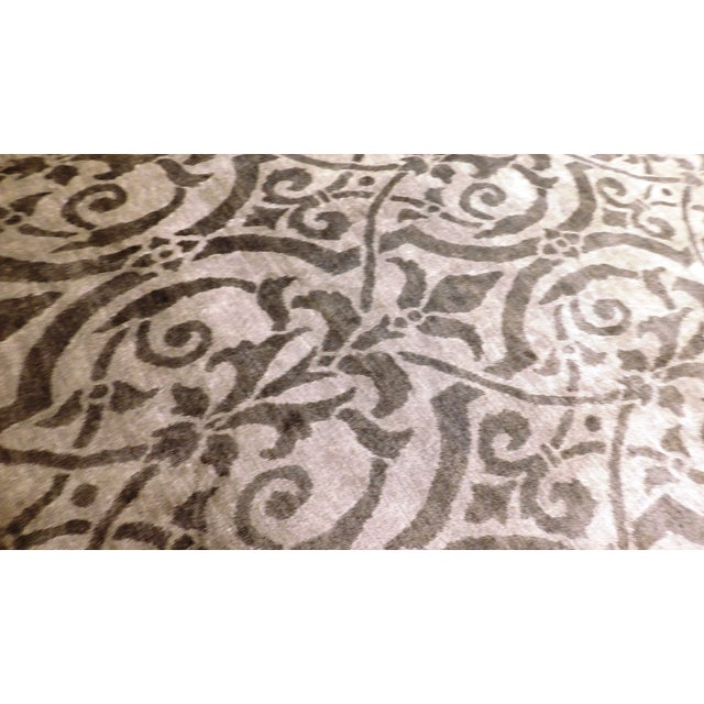 "Contemporary Bamboo Silk Damask Rug - 8′9″ × 11′9"" - Image 2 of 5"